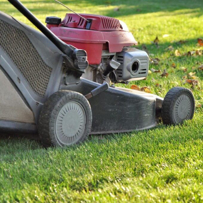 a lawn mowing machine